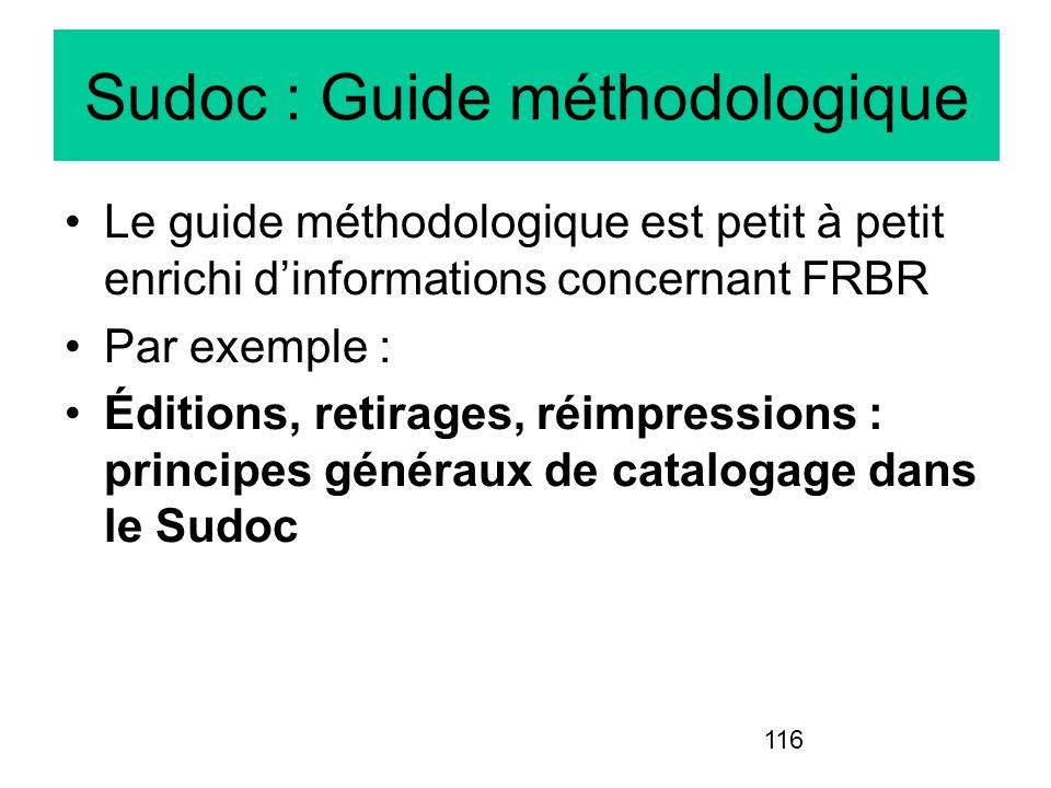 Sudoc : Guide méthodologique