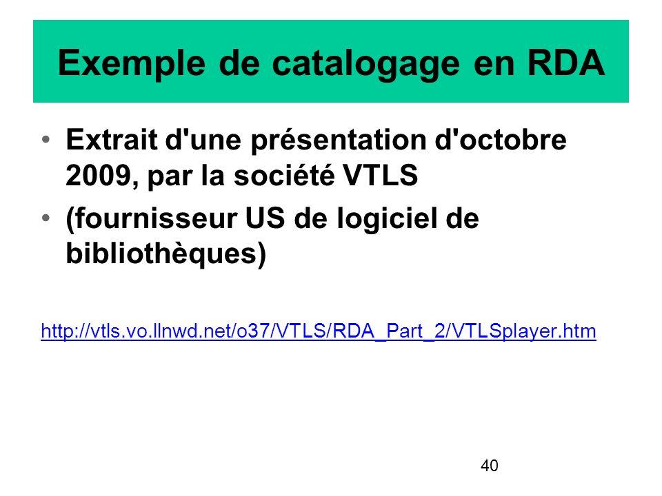 Exemple de catalogage en RDA