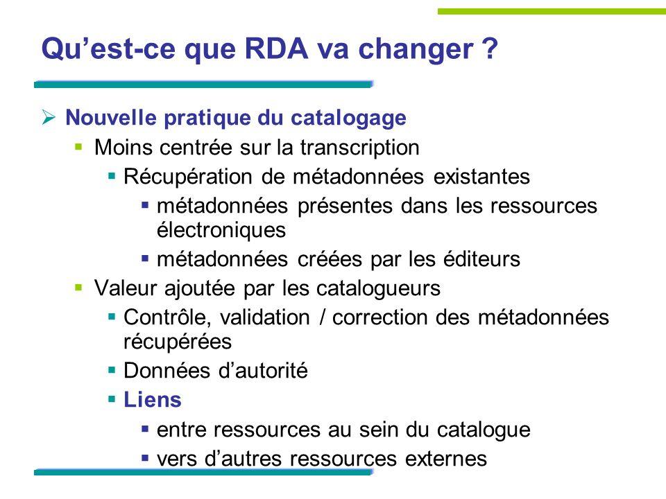 Qu'est-ce que RDA va changer