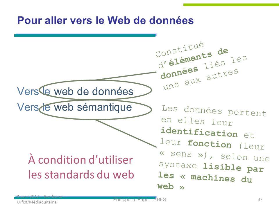 Pour aller vers le Web de données