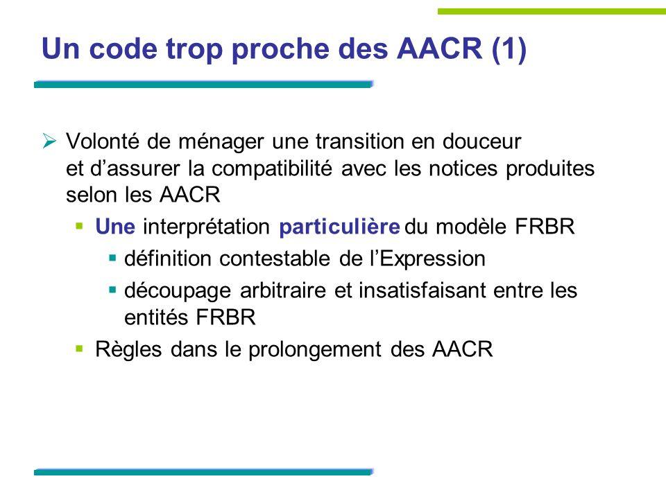 Un code trop proche des AACR (1)