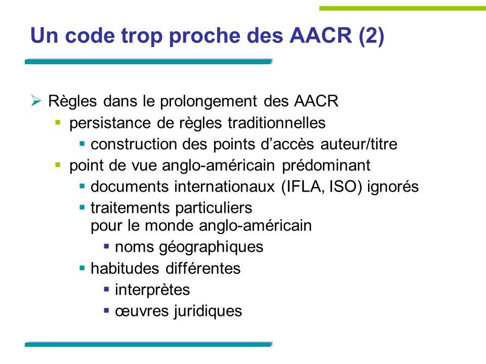 Un code trop proche des AACR (2)