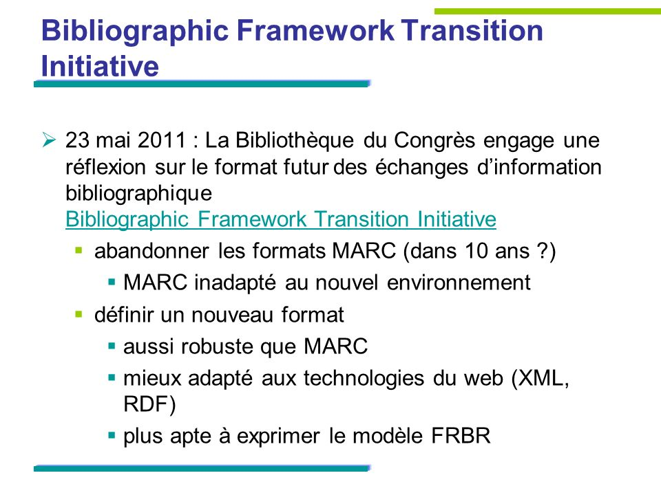 Bibliographic Framework Transition Initiative