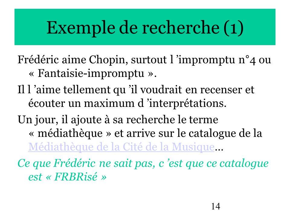 Exemple de recherche (1)