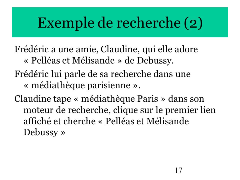 Exemple de recherche (2)