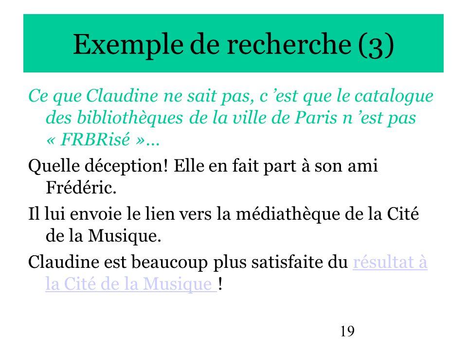 Exemple de recherche (3)