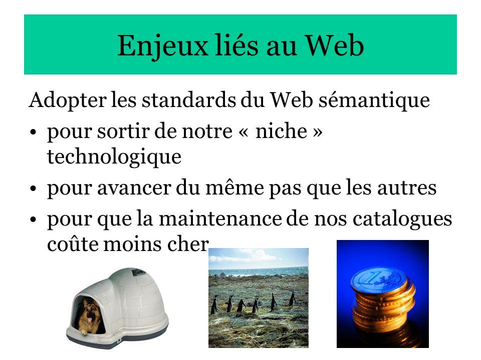 Enjeux liés au Web Adopter les standards du Web sémantique