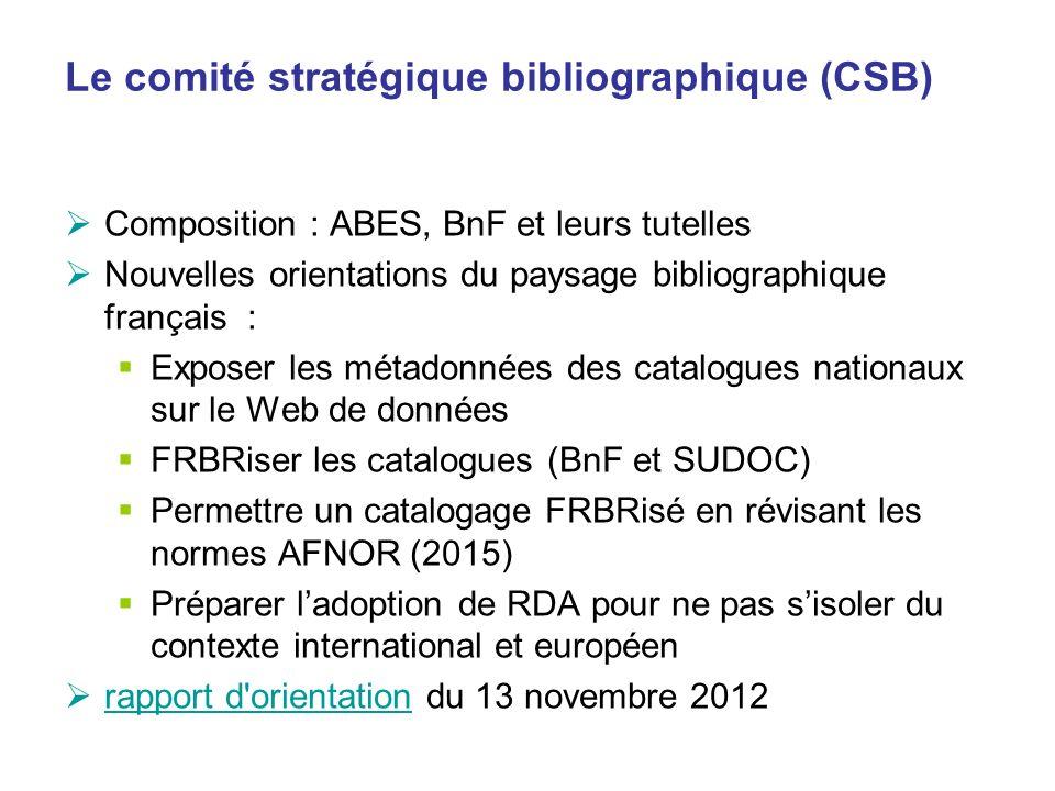 Le comité stratégique bibliographique (CSB)