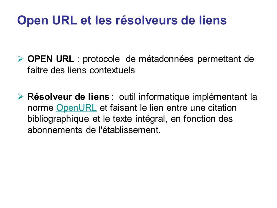 Open URL et les résolveurs de liens