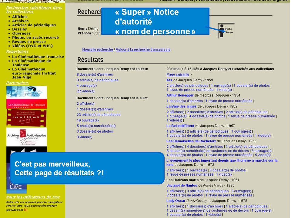 « Super » Notice d autorité « nom de personne »