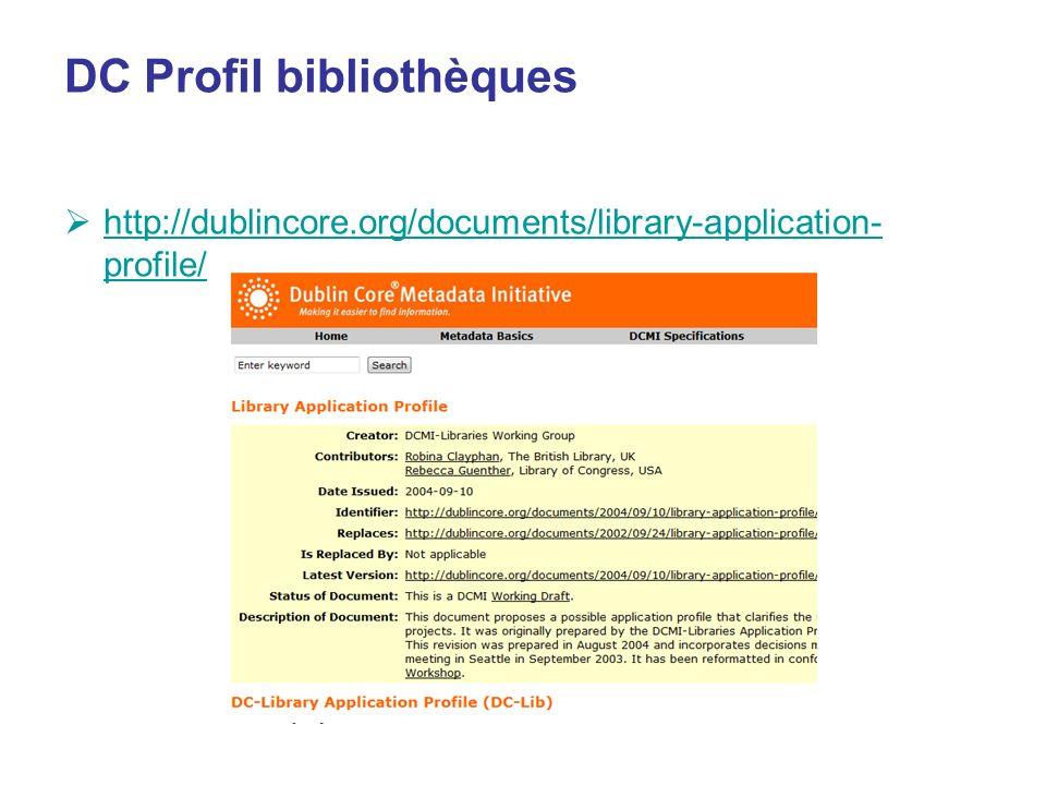 DC Profil bibliothèques