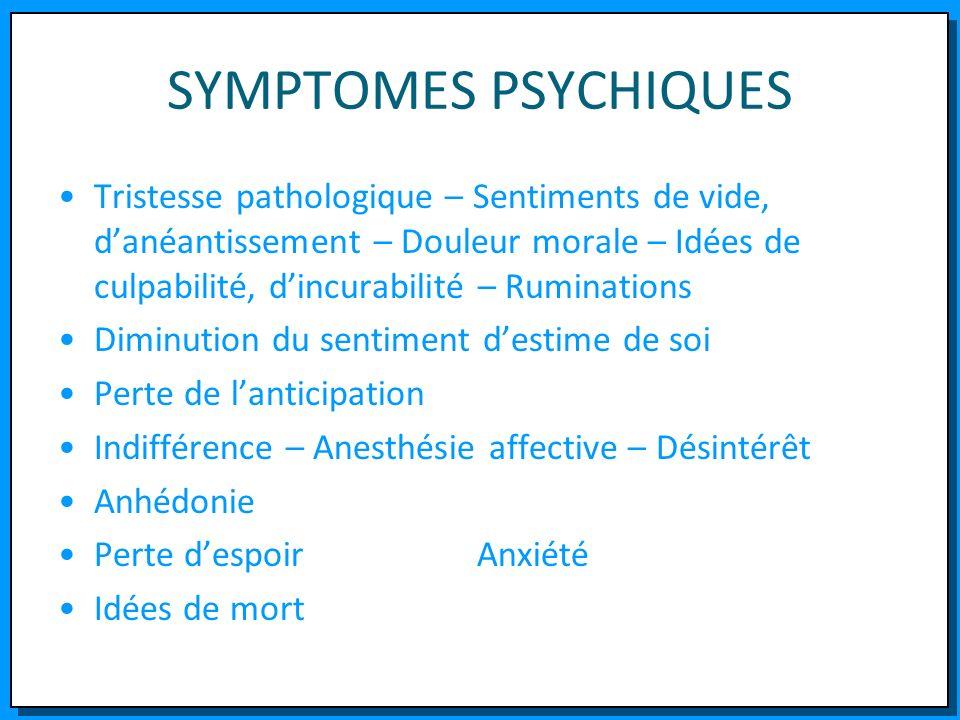 SYMPTOMES PSYCHIQUES