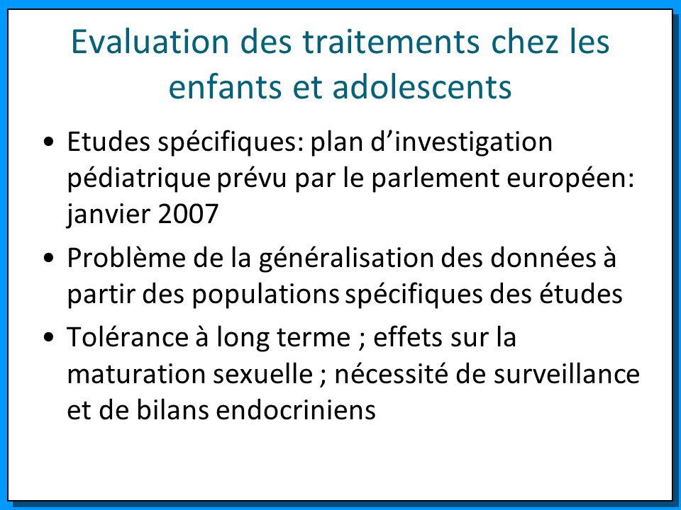 Evaluation des traitements chez les enfants et adolescents