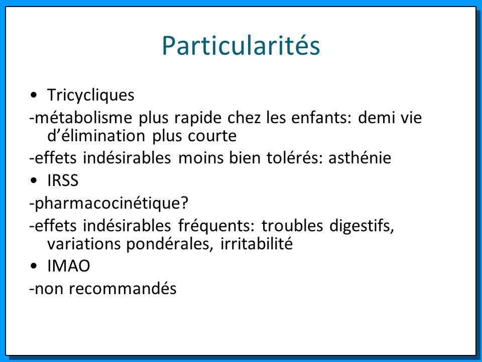 Particularités Tricycliques