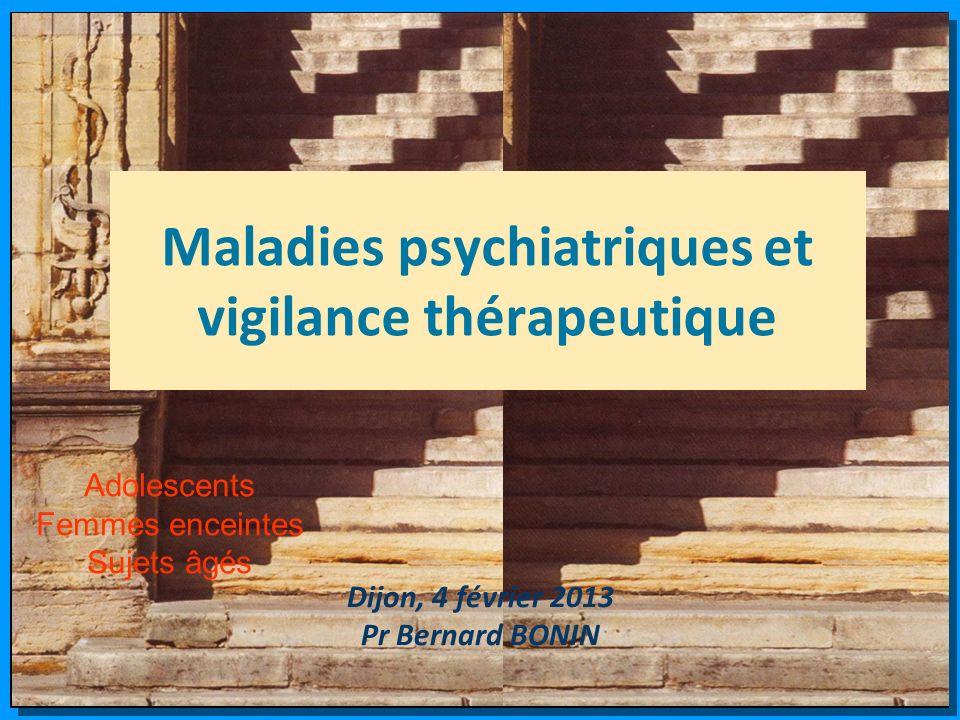 Maladies psychiatriques et vigilance thérapeutique