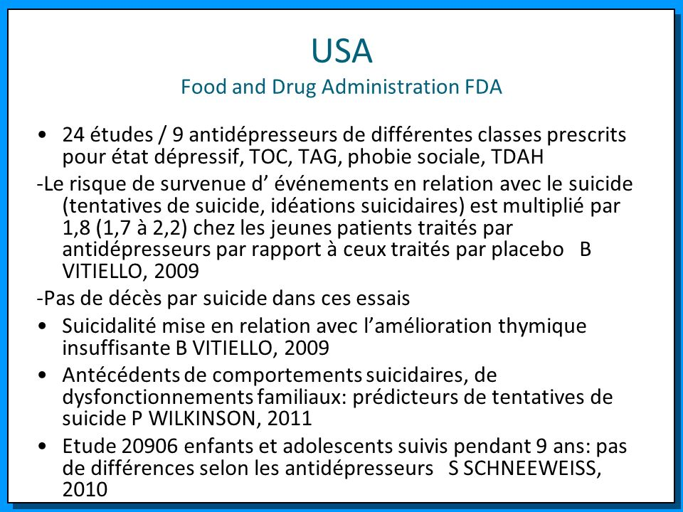 USA Food and Drug Administration FDA