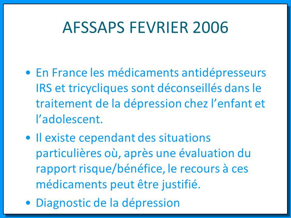 AFSSAPS FEVRIER 2006