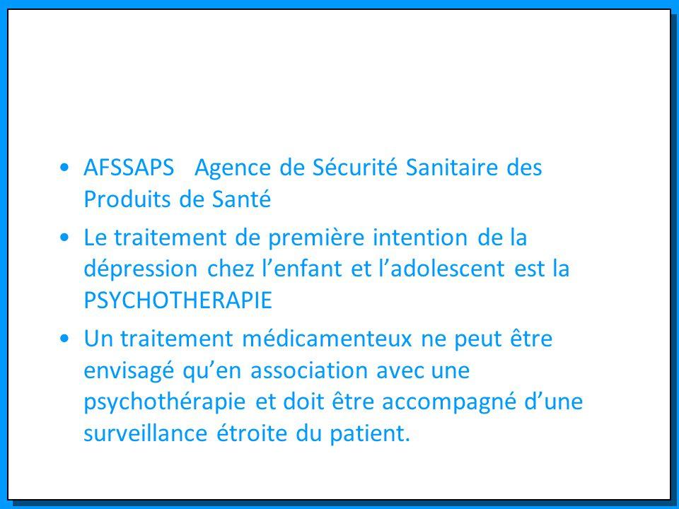 AFSSAPS Agence de Sécurité Sanitaire des Produits de Santé
