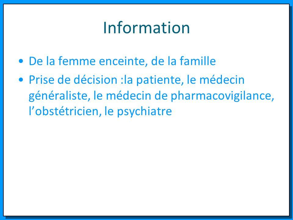 Information De la femme enceinte, de la famille