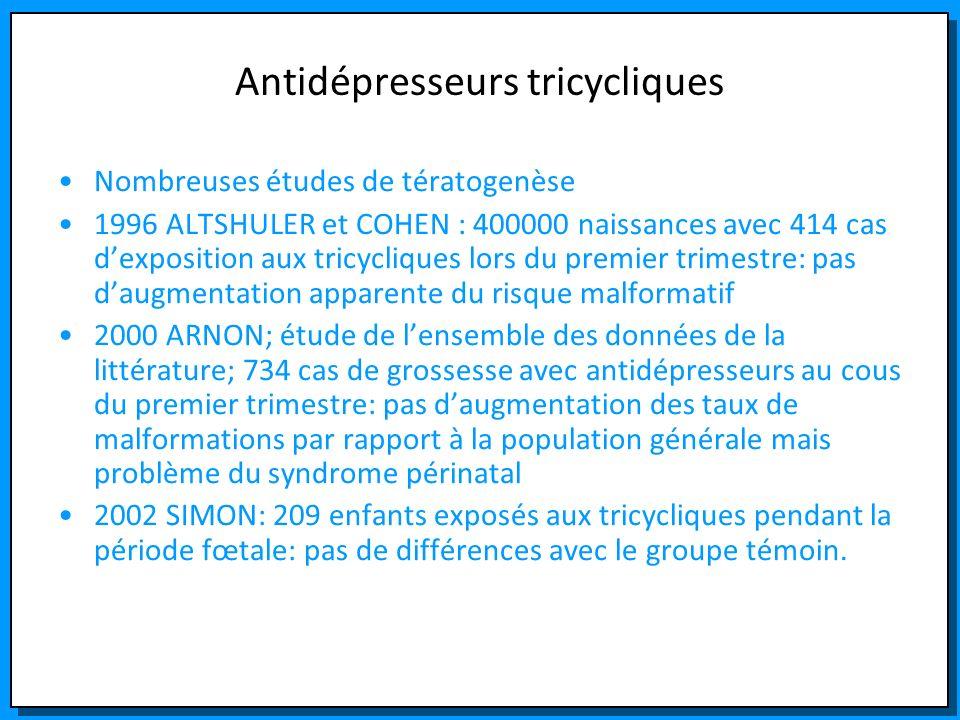 Antidépresseurs tricycliques