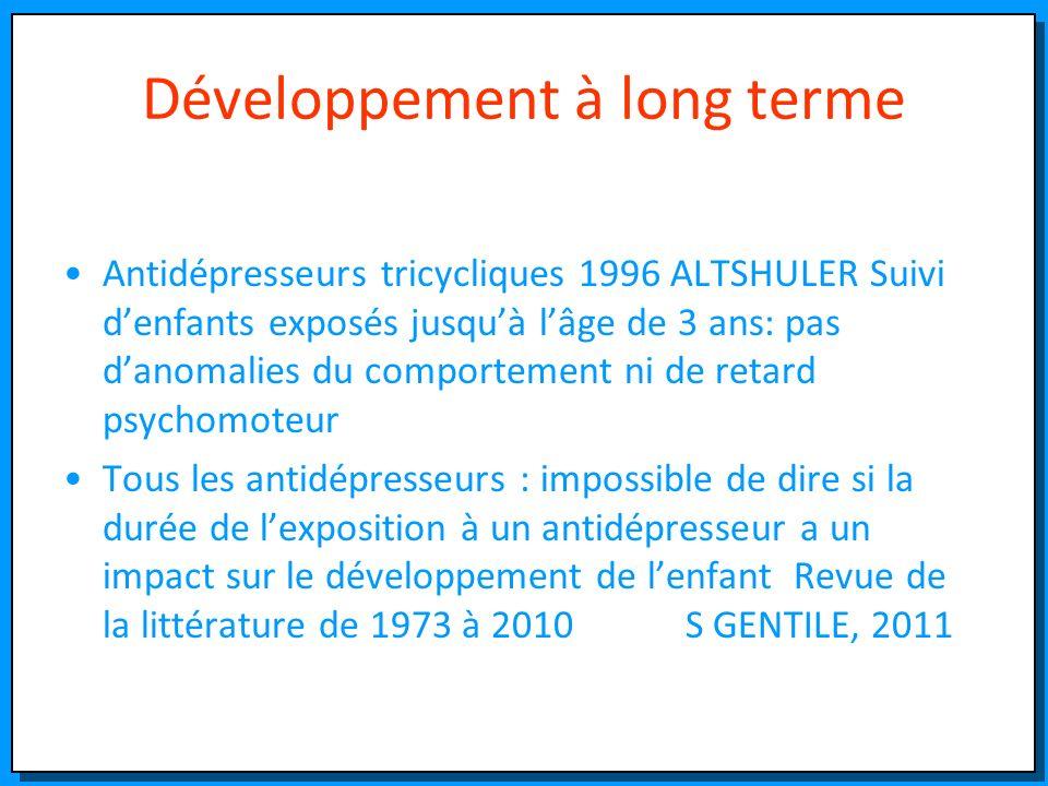 Développement à long terme