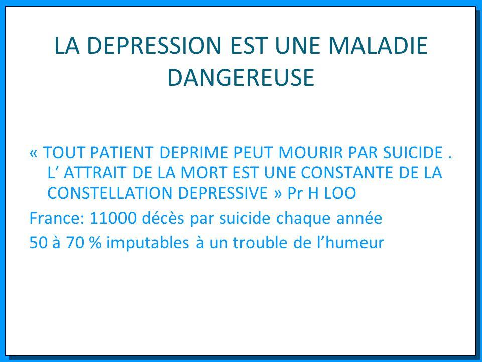 LA DEPRESSION EST UNE MALADIE DANGEREUSE