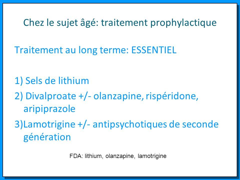 Chez le sujet âgé: traitement prophylactique