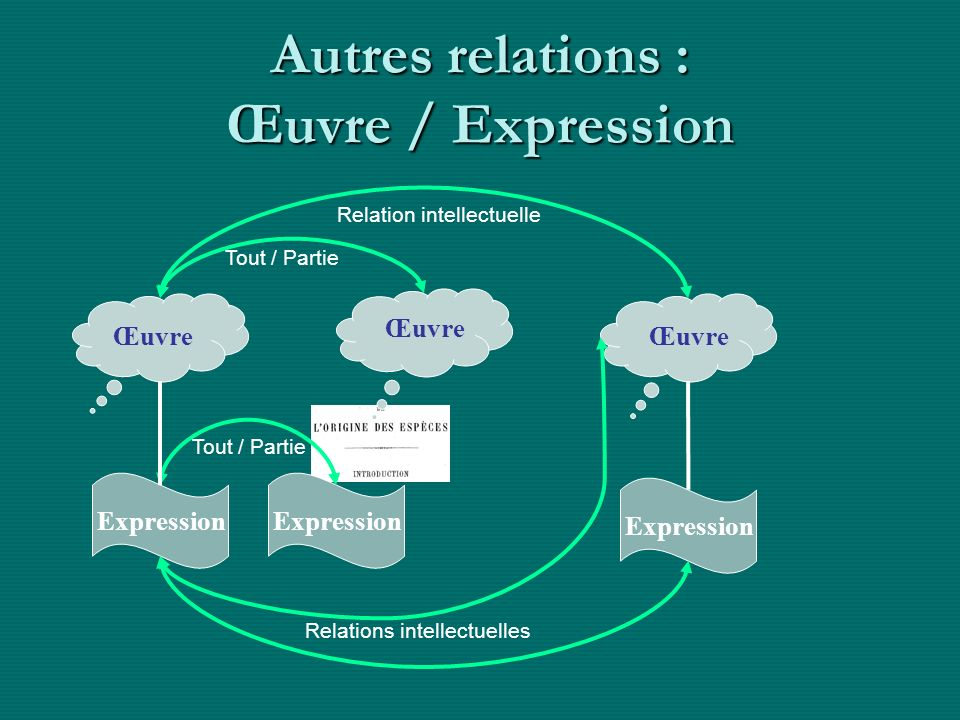 Autres relations : Œuvre / Expression