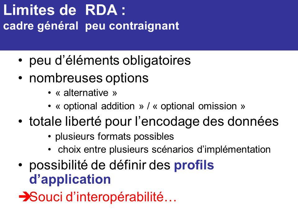 Limites de RDA : cadre général peu contraignant