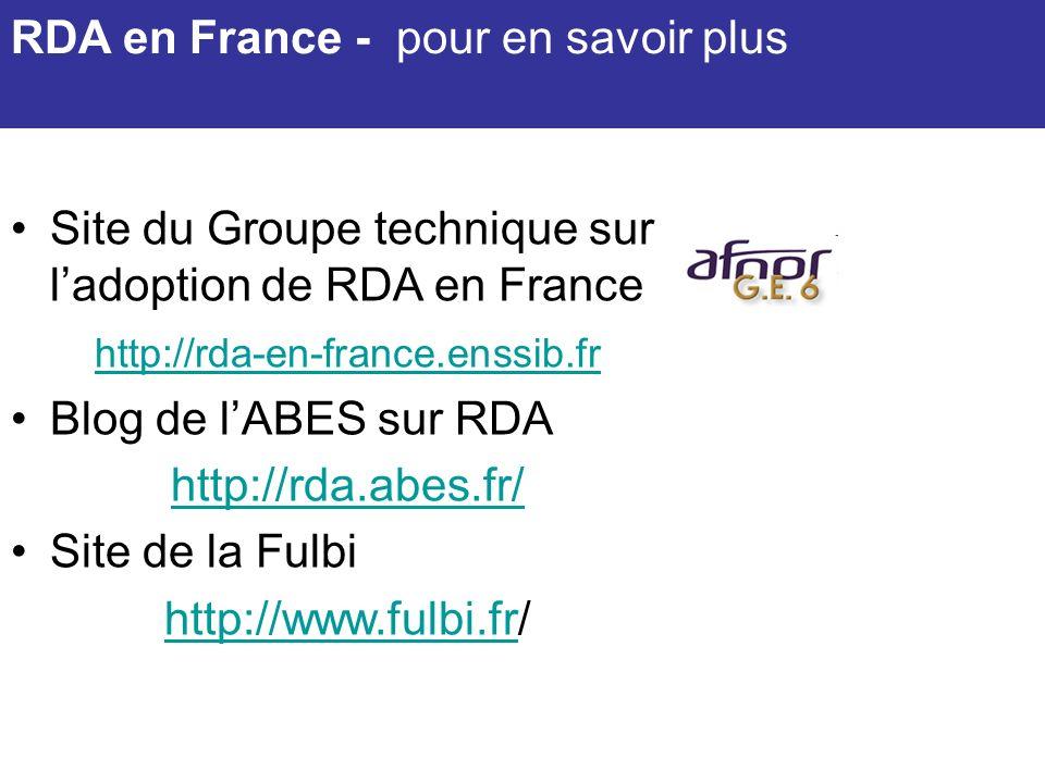 RDA en France - pour en savoir plus