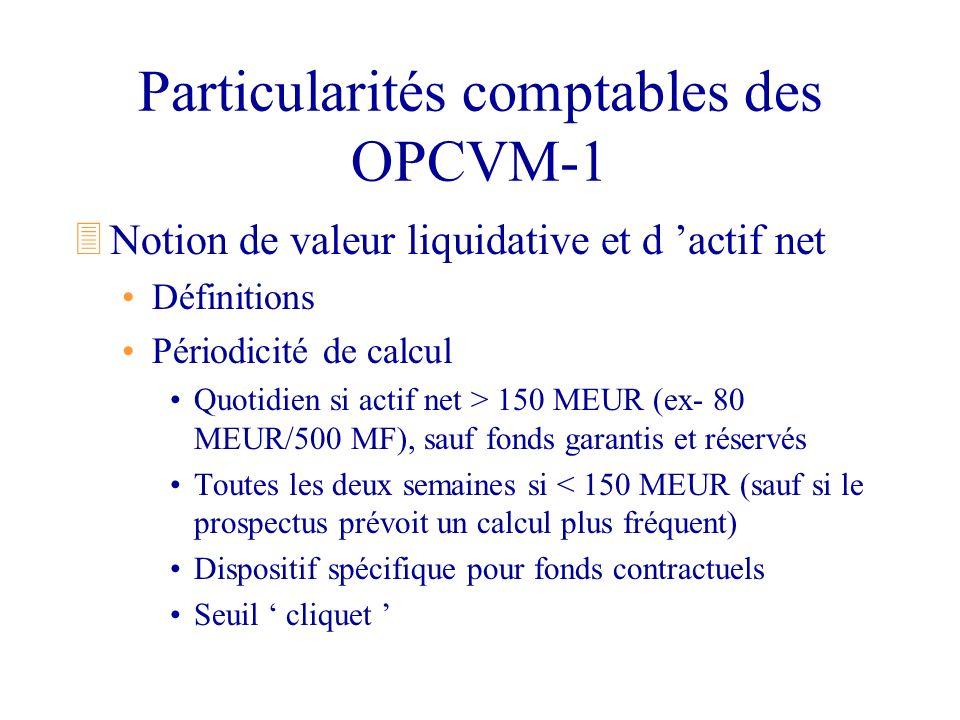 Particularités comptables des OPCVM-1