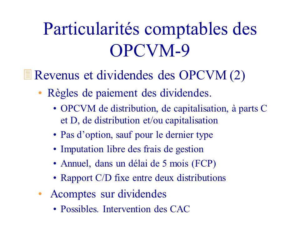 Particularités comptables des OPCVM-9