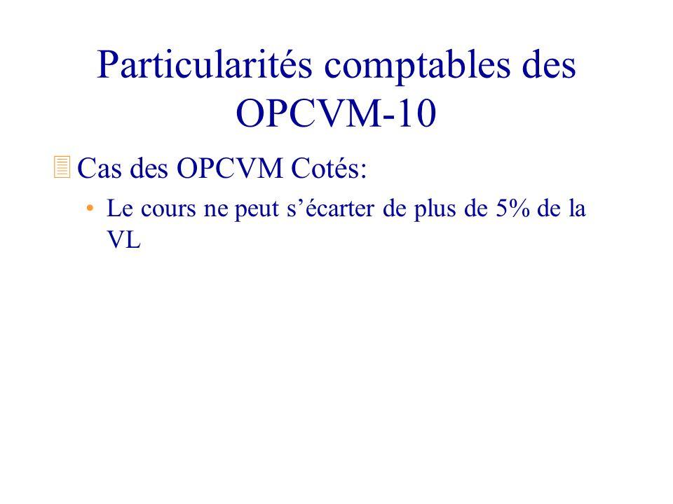 Particularités comptables des OPCVM-10