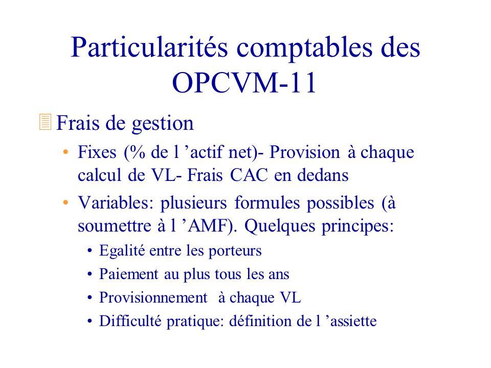 Particularités comptables des OPCVM-11