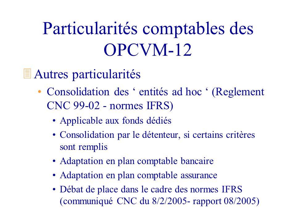 Particularités comptables des OPCVM-12