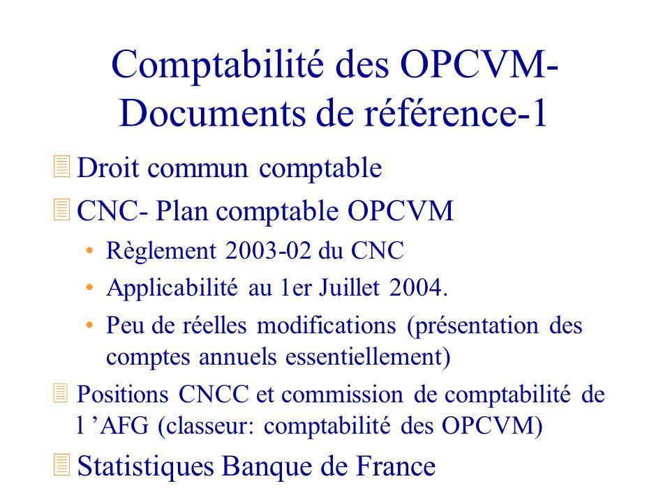 Comptabilité des OPCVM- Documents de référence-1