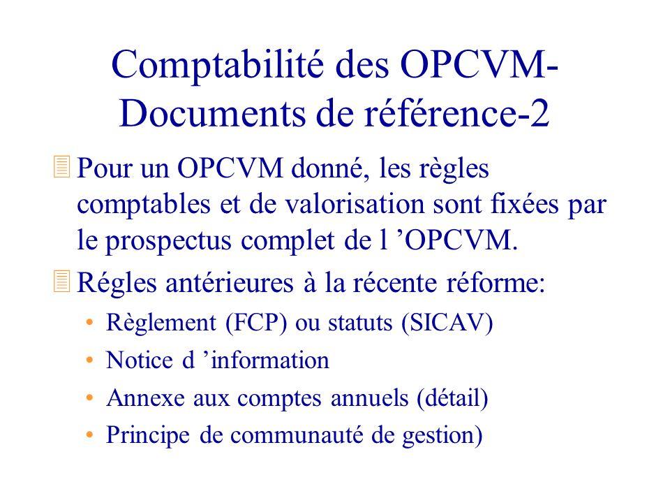 Comptabilité des OPCVM- Documents de référence-2