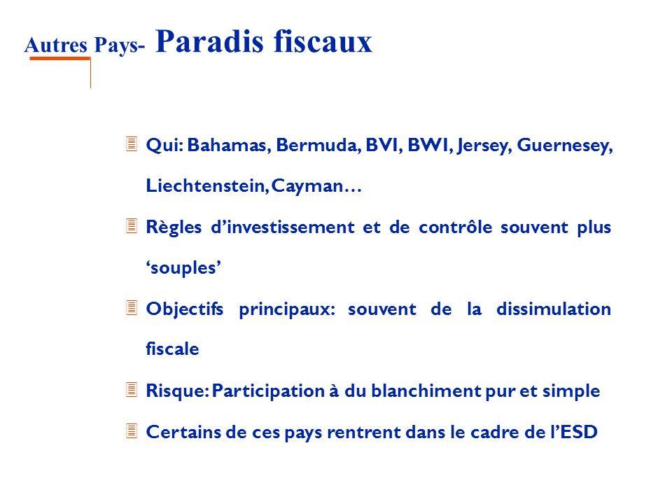 Autres Pays- Paradis fiscaux