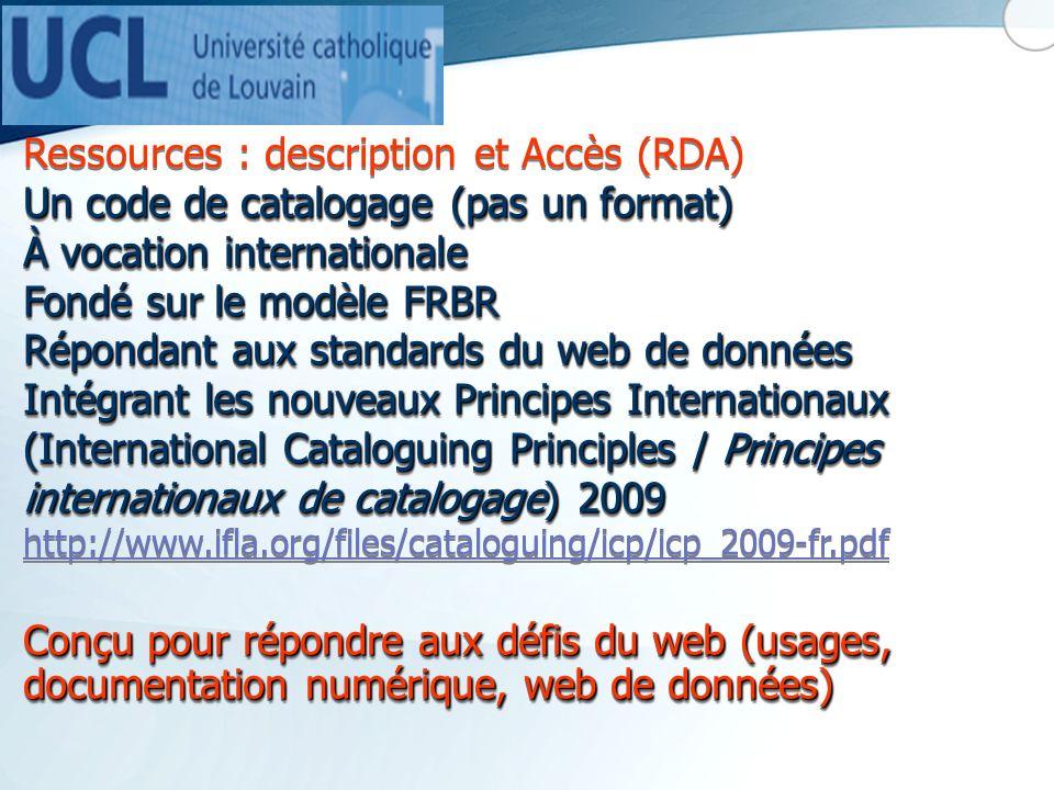 Ressources : description et Accès (RDA)