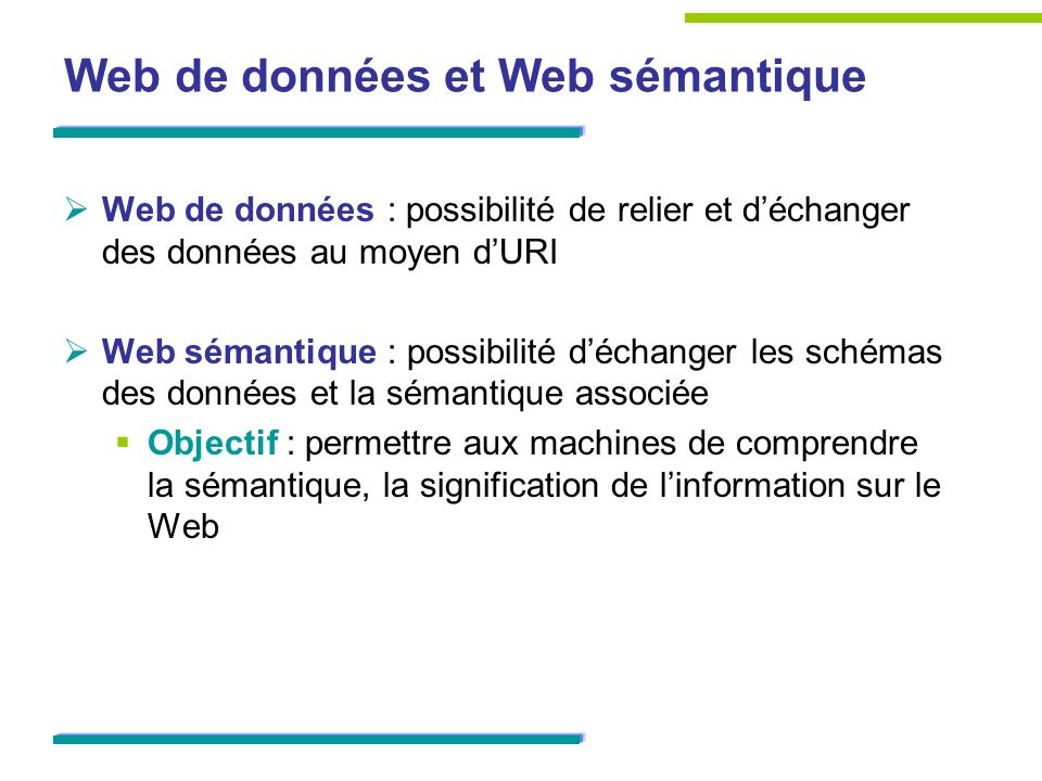 Web de données et Web sémantique