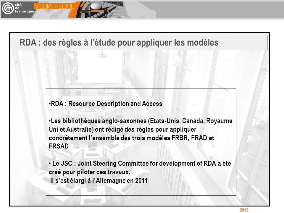 RDA : des règles à l'étude pour appliquer les modèles