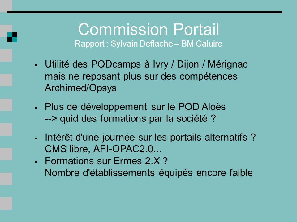 Commission Portail Rapport : Sylvain Deflache – BM Caluire