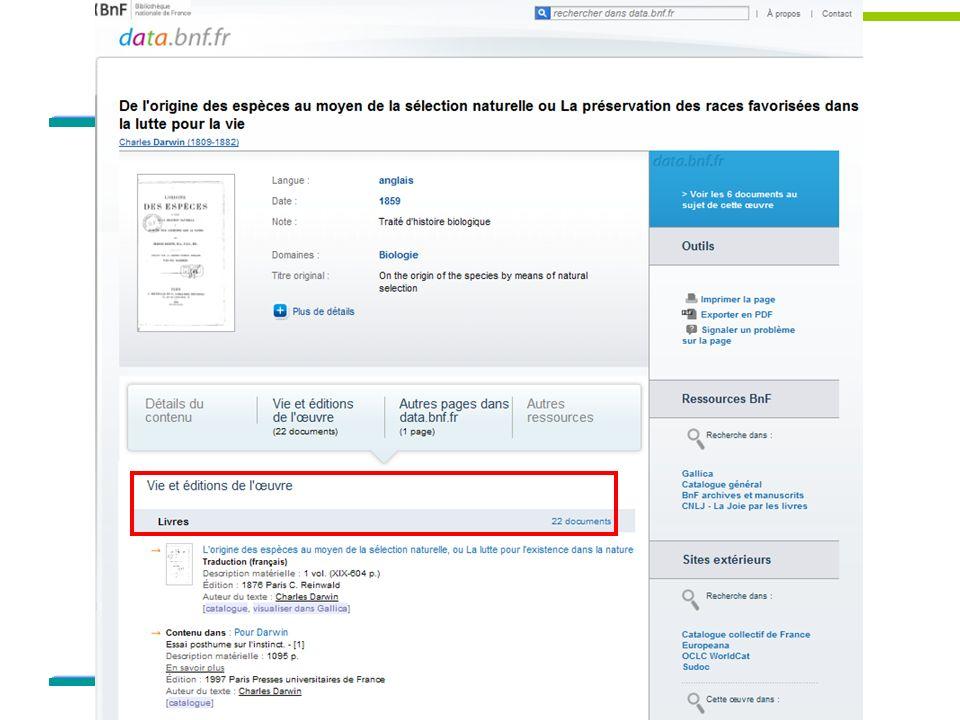 Bien présenter data. bnf