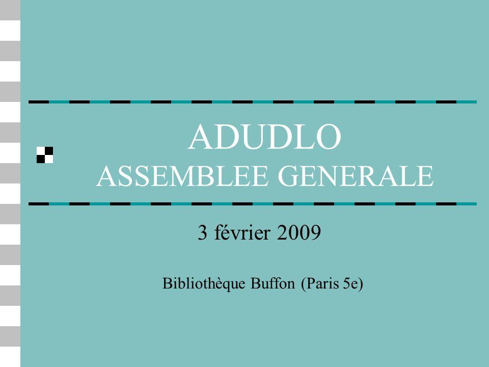 ADUDLO ASSEMBLEE GENERALE