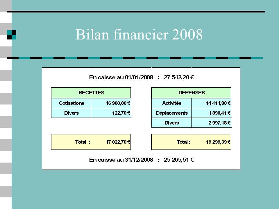 Bilan financier 2008