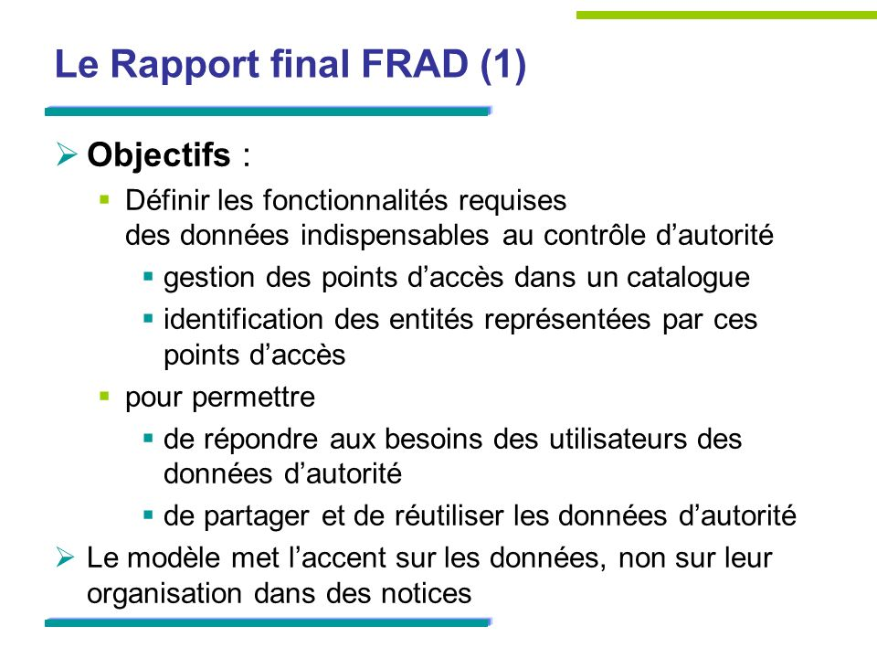 Le Rapport final FRAD (1)