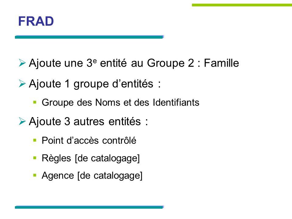 FRAD Ajoute une 3e entité au Groupe 2 : Famille