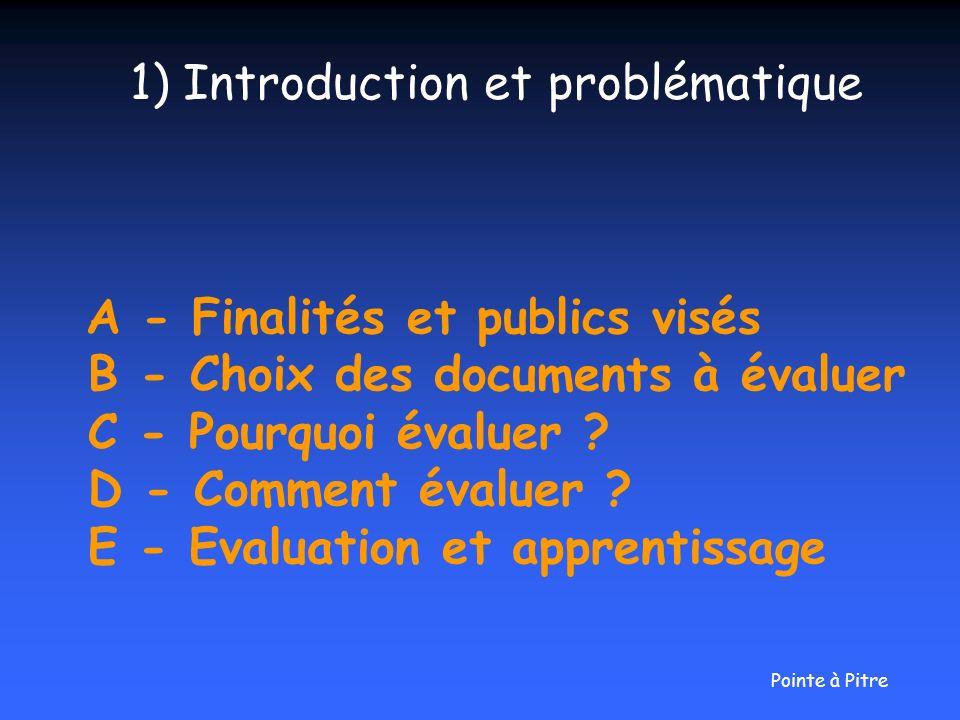 1) Introduction et problématique
