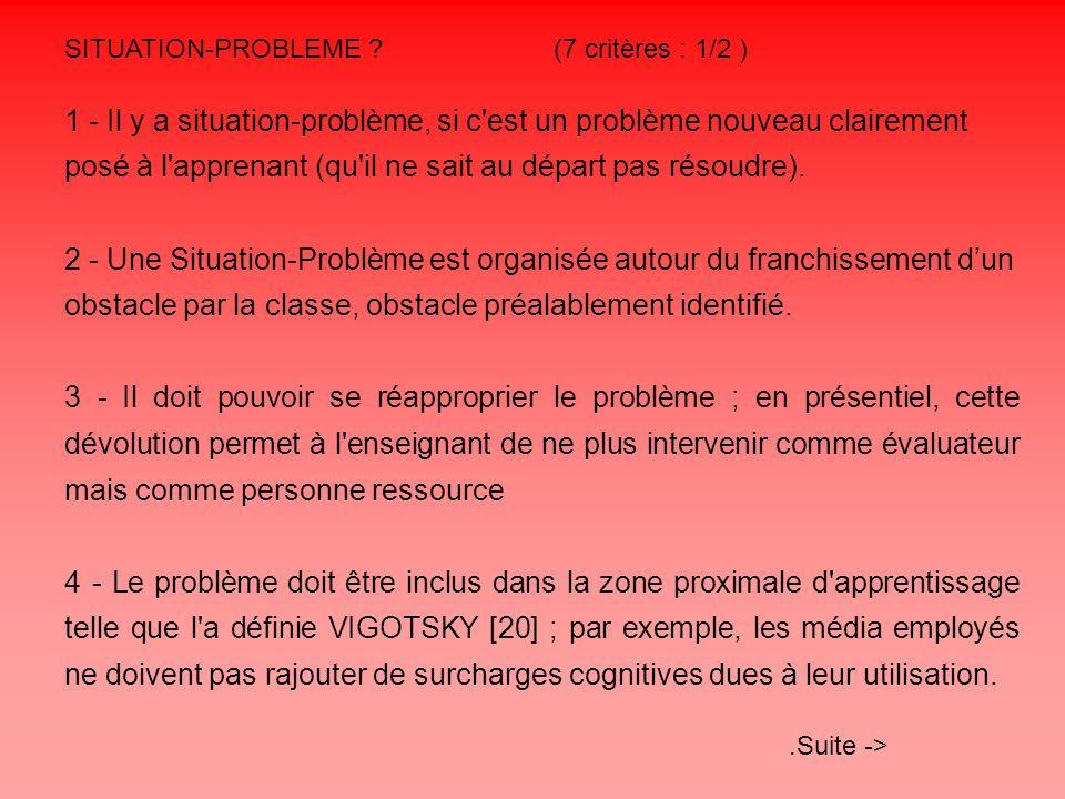 SITUATION-PROBLEME (7 critères : 1/2 )