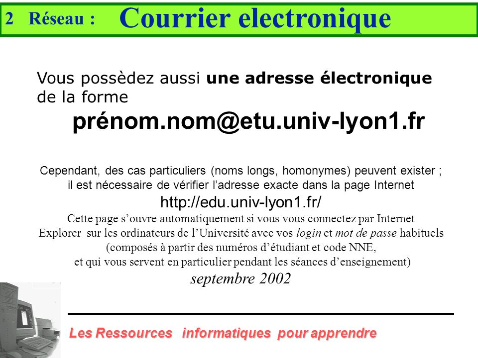 Courrier electronique